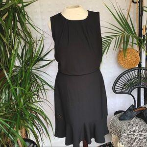 BANANA REPUBLIC Black PleatedSleeveless Dress